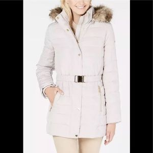 Michael Kors belted down Puffer Coat sand XS